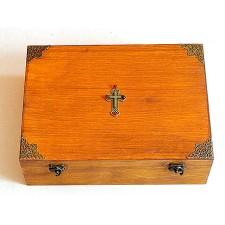 """Подарочный набор """"Библейские афоризмы"""". Книга в кожаной обложке. В коробе."""