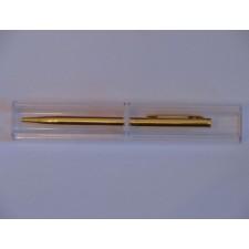 Ручка металлическая в футляре, золото.