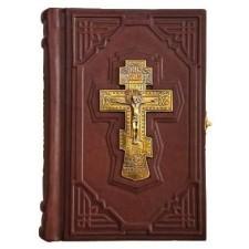 Библия малая с бронзовым крестом