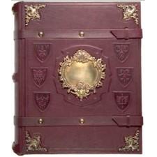 Элитная родословная книга с бронзовыми уголками и накладкой (Классик 4)